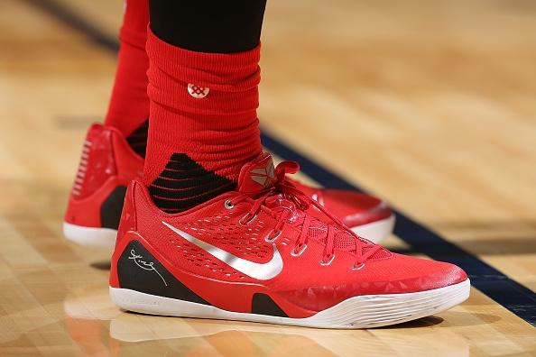 785ecc74bed77d Other sneakers worn by Terrence Jones. Nike Kobe 9 PE. Air Jordan 10 Retro